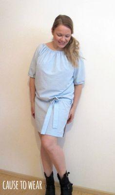 DIY Serenity Dress made of an upcycled bed sheet