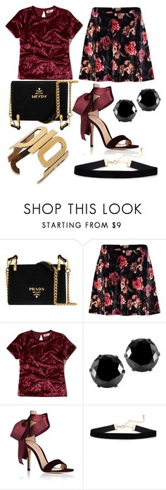 """Untitled #969"" by helenaki65 ❤ liked on Polyvore featuring Prada, River Island, Hollister Co., West Coast Jewelry and Gianvito Rossi"
