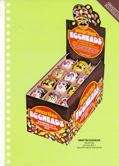 Rowntree Easter Eggs from the and - gallery - from York Press Smarties Chocolate, Chocolate Shapes, Chocolate Box, Old Sweets, Vintage Sweets, Vintage Candy, Vintage Packaging, Packaging Design, Food Packaging