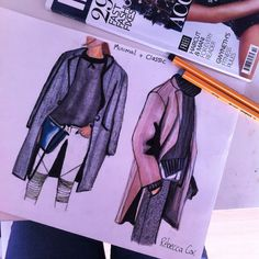 Working on some minimal/ classic designs for a/w 14. To create these drawings I used coloured pencils, pro markers and fine liners!  #fashion #nyfw #aw14 #kimkardashian #kanye #instyle #streetstyle #offduty #casual #aspiring #designer