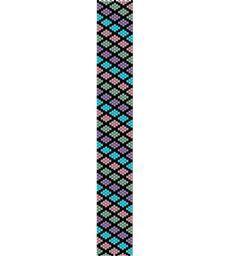Multicolor Harlequin -Peyote stitch pattern cuff bracelet, PDF file pattern ,Delica seed beads pattern, beadwork. $4.00, via Etsy.