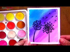 Diente de león con ACUARELA - FÁCIL - - YouTube Youtube, Science Projects For Kids, Easy Watercolor, Learn To Draw, Teeth, Youtubers, Youtube Movies