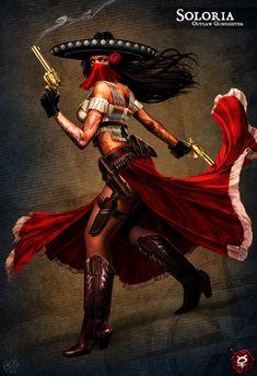 Beauty of Steampunk 3d Fantasy, Fantasy Warrior, Fantasy Girl, Mexican American, Mexican Art, Portrait Robot, Art Chicano, Aztecas Art, Character Art