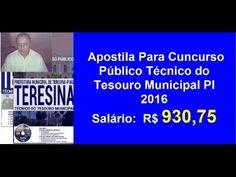 Apostila Cuncurso Público Técnico do Tesouro Municipal |PI 2016|