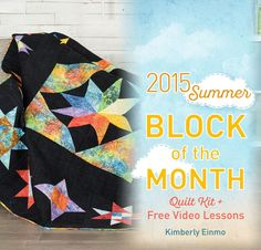 Course + Kit: Craftsy Summer 2015 Night Stars Block Of The Month - White