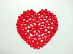 Charted heart crochet pattern