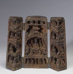 Chinese - Portable Buddhist Shrine - Walters 61266 - Front Open - Lotus Sutra - Wikipedia, the free encyclopedia Buddhist Shrine, Buddhist Art, Kamakura, Sutra Du Lotus, History Of Buddhism, Buddhist Texts, Mahayana Buddhism, Culture Art, Lotus Art