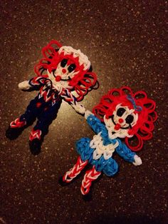 Raggedy Ann & Andy Rainbow Loom Figurines by LuxeLoom on Etsy, $18.00