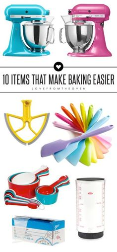 10 Items To Make Baking Easier