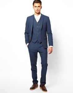 blue dogstooth tweeds