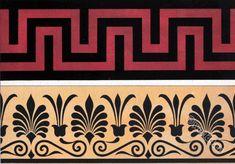 Ancient Greece art. Ornaments at vases.