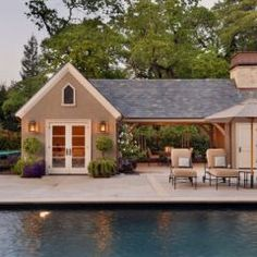 Garage inspiration ... Really want a covered porch area off the ...