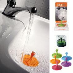 Creative rubber drain plug for your sink with a quirky twist.