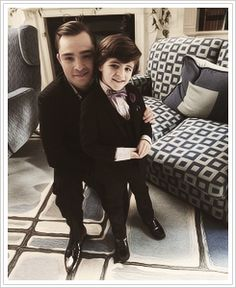 Chuck Bass and baby Henry!  I'm dying!  Someone get these two a spin off quick!