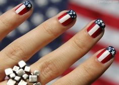 American flag nails fashion summer nails stars stripes america 4th of july