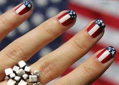 American flag nails fashion summer nails stars stripes america 4th of july
