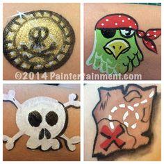 Pirate cheek art by Gretchen Fleener www.Paintertainment.com