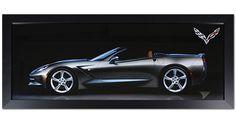 C7 Corvette Side View Framed Print