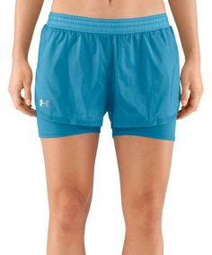 Look what I found on #zulily! Deceit Blue See Me Go Translucent Two-in-One Shorts by Under Armour® #zulilyfinds