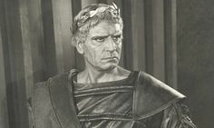 Laurence Olivier as Titus Andronicus at the old Stratford theatre in 1955.