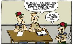 I've actually had discussions like this with scouts