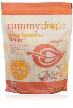 Natural Ginger Tummydrops (Resealable Bag of 30 Individually Wrapped Drops) Certified Oregon Tilth USDA Organic, Non-GMO Project, GFCO Gluten-Free, and Kof-K Kosher Trimesters Of Pregnancy, First Pregnancy, Pregnancy Tips, Pregnancy Nausea, Pregnancy Style, Pregnancy Fashion, Pregnancy Outfits, Maternity Fashion, First Trimester Tips