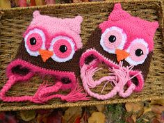 Set of Sweet Fuzzy Owls    Custom Design's by Nicole