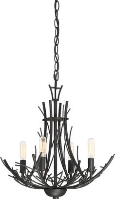 Quoizel's THL1718MK, THL5006MK Thornhill Asian Influenced Chandeliers - Oriental Chandeliers