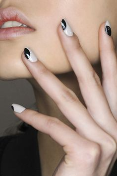 Simple graphic nails at Zero + Maria Cornejo, winter 2015