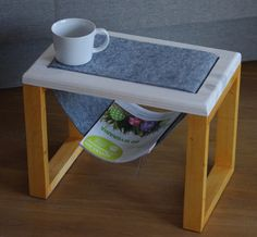 This time, offer another hand-made coffee table. Table made from 100% wood. Legs protected oil, table top white ecological acrylic paint. Over the top drag strip of felt. It can serve as a place for newspapers. Simple and delicate fit into any interior. The dimensions of the tabletop 30x46 height 36.
