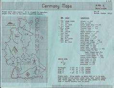 Germany Maps Counted Cross Stitch Patterns Original Brenda Lavender #doesnotapply #sampler