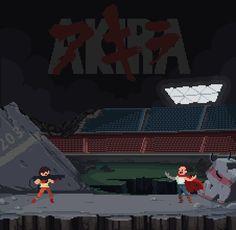 Akira Pixel Artist: Bandygrass Source: bandygrass.tumblr.com