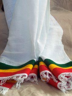 Reggae Fashion Handwoven Rastafari Shawl with by CrucialCulture, $24.99