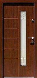 Drzwi zewnętrzne nowoczesne model 471,11+ds1 w kolorze orzech