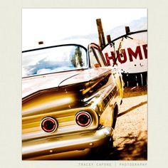Photography - Wall Decor - Vintage Car Photograph - Hum - boys room wall art, masculine home decor, Retro Inspired Art