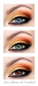 Statement of make-up of three basic colors of the eyes.