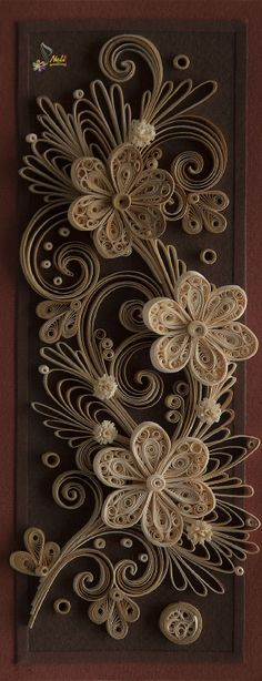 neli: monochrome quilling on dark background - what can I say beyond WOW!!