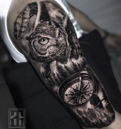 Preto e Cinza na tatuagem: 31 artistas brasileiros para seguir - Blog Tattoo2me Blog, Tattoos, Black And Grey Tattoos, Black Style, Solid Black Tattoo, Artists, Tatuajes, Tattoo, Blogging