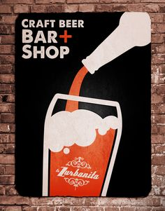 Poster Craft Beer para La Zurbanita. Craft Beer Bar + Shop by Dokidoki Planet