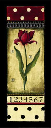 Dutch Tulips I Print by Kimberly Poloson at Art.com