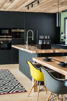 Industrial Kitchen Design, Kitchen Room Design, Best Kitchen Designs, Modern Kitchen Design, Home Decor Kitchen, Interior Design Kitchen, Home Kitchens, Chalet Chamonix, Communal Kitchen