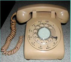 Can you say rotary dial? Can you say party line?
