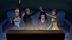 This is from Scooby Doo Wrestlemania. Warner brother also used to make Young Justice. Now is it just me or does it look like Wondergirl, Artemis, Zatanna and Miss Martian