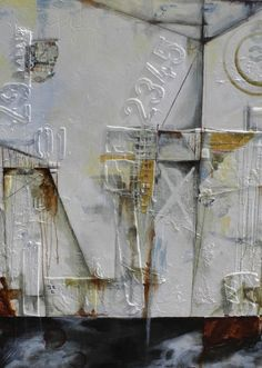Urban Landscape II by Julie Havel - Mixed Media on Canvas 36 x 48 http://www.juliehavel.com/gallery.html