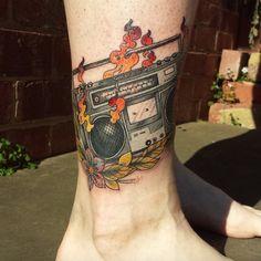 boombox tattoo by Shan_mac