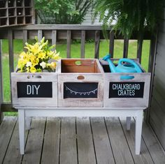 Diy Wood Chalkboard Crates