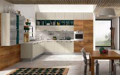 Cucina angolare moderna - Composizione 0463