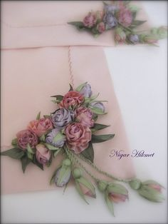 Nigar Hikmet, ribbon art and embroidery