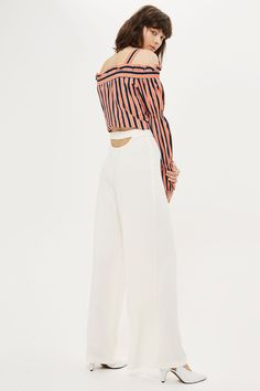 Open Back Wide Leg Trousers - New In Fashion - New In - Topshop USA