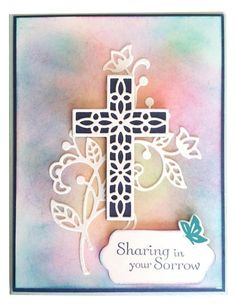 Stampin' Up! Hold on to Hope Sympathy – Wild Wing Creations Hand Made Greeting Cards, Making Greeting Cards, Greeting Cards Handmade, Stampin Up Karten, Christian Cards, Christian Baptism, Stamping Up Cards, Get Well Cards, Copics